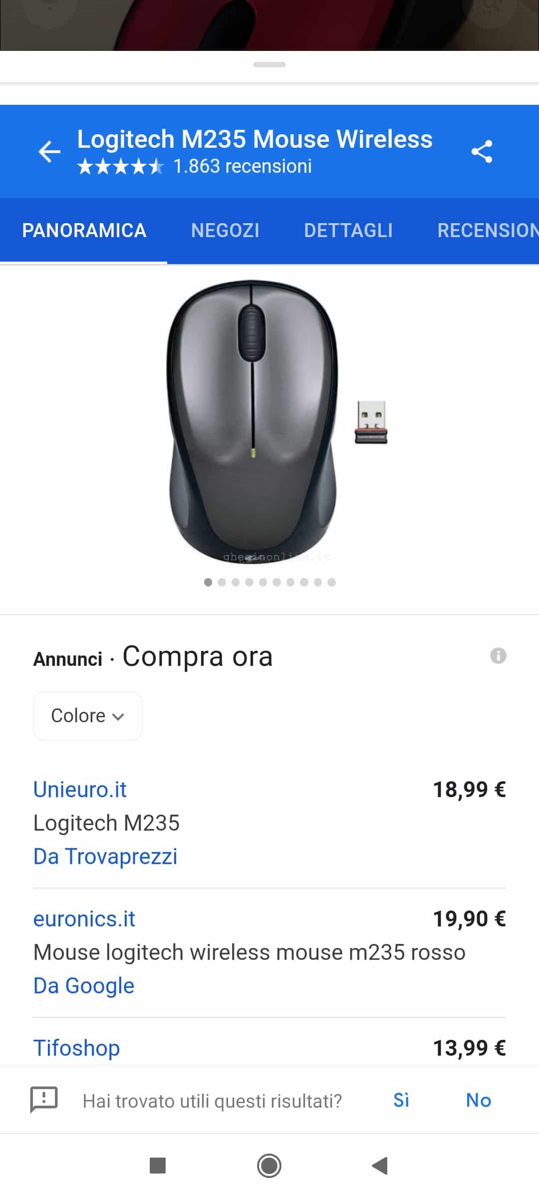 Max Mile mostra la ricerca e acquisto di un mouse tramite Google Lens