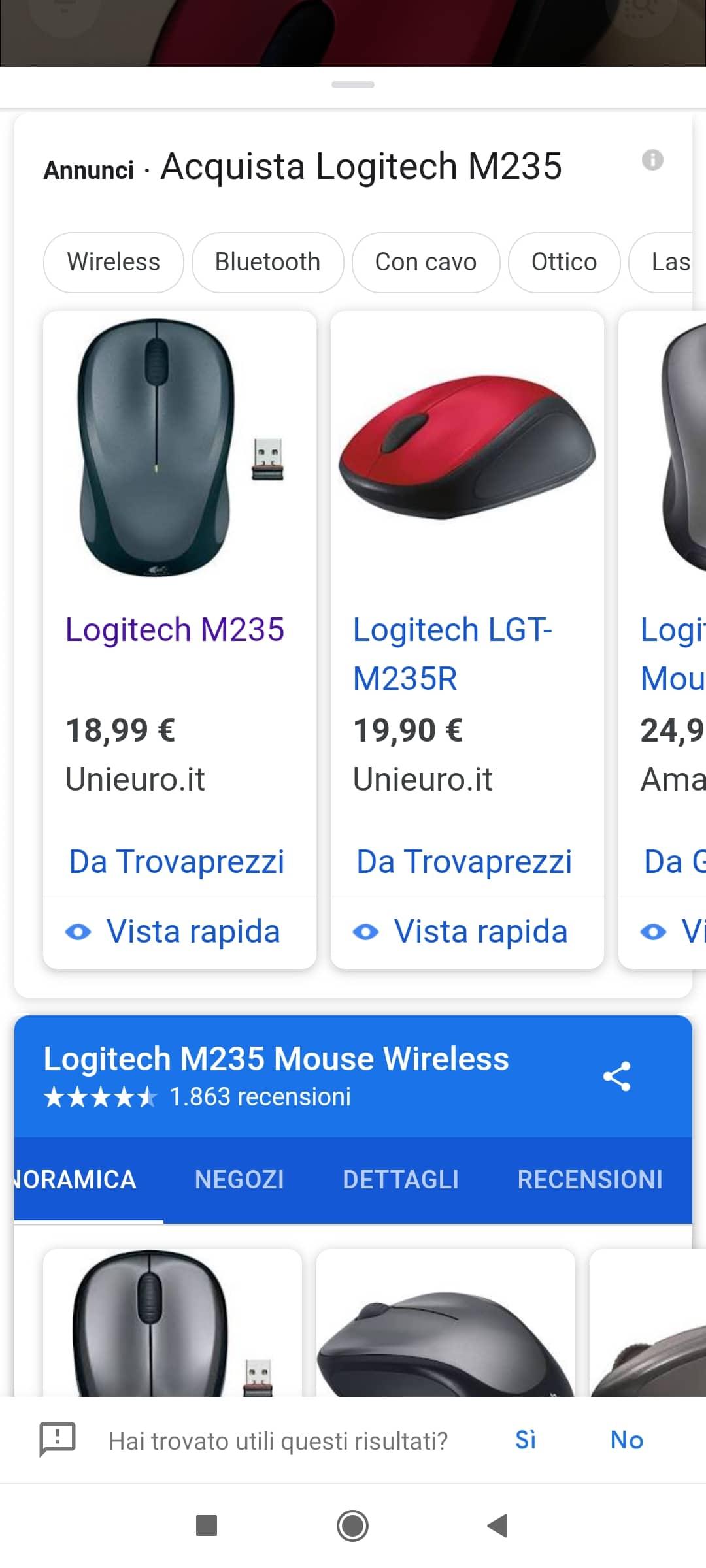 Max Mile mostra un esempio di ricerca con Google Lens in modalità Acquisti