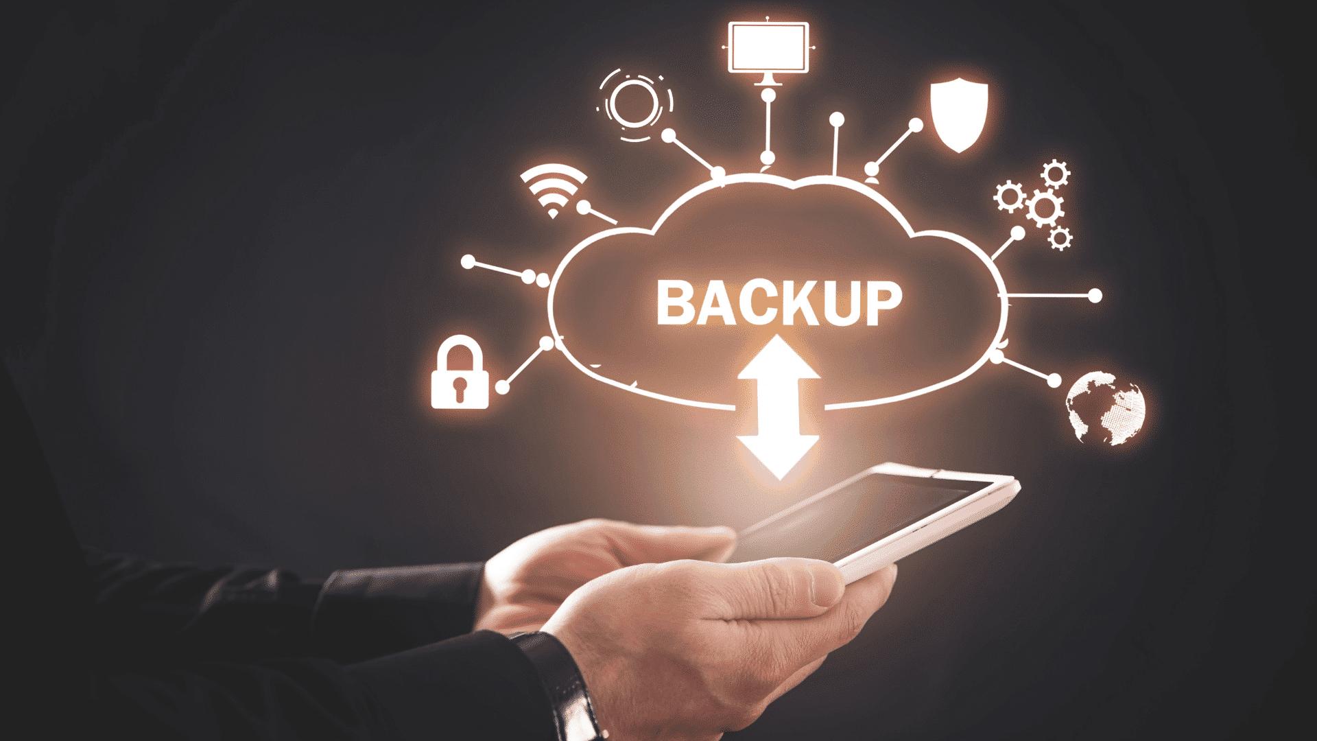 backup dati da dispositivo mobile